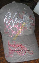 Стильные именные кепки Иришка со стразами Swarovski