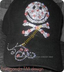 Стильные кепки SMILE со стразами Swarovski АКЦИОННАЯ ЦЕНА