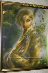 Картина со стразами Сваровски Лесной Эльф