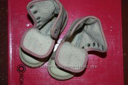 Современные фирменные Ботиночки-кеды кожаные для модниц р-22