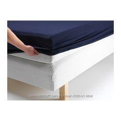 Простыня натяжная DVALA  90х200 см   ТМ IKEA    разные цвета