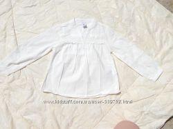 Две белых блузы Zara, 98-104см,