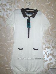 Новое трикотажное платье L