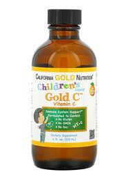 Жидкий витамин С для детей, Gold C, California Gold Nutrition
