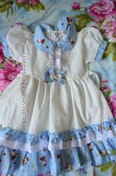 Хлопковое платье для сада и не только