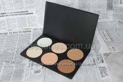 Палитра сухих контуров пудра 6 цв. набор контурных пудр для макияжа