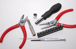 Универсальный набор инструментов Air Blue кусачки, отвёртки, 24 элем.