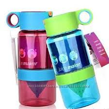 Бутылка для воды с поилкой для самодельного лимонада 450 мл