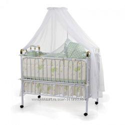 Кроватка Geoby 05TLY612матрац R701 зеленая с животными