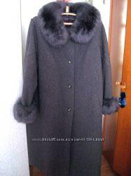 Шерстяное пальто мех ламы