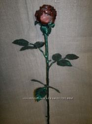 Роза кована ручної роботи, кованая роза ручная работа