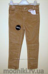 Велюровые коричневые штаны для девочки Primark