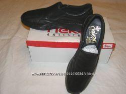 Немецкие кожаные туфельки-ботиночки Rieker