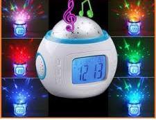 Проектор звёздного неба Музыкальные Часы Будильник Music Star Master