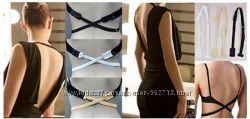 Набор застежек для бюстгальтера открытая спина low back bra