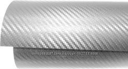 Карбоновая пленка 1 м погонный Цвет Серый CARBON 3Д