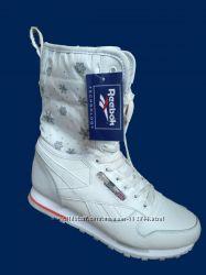 Кроссовки высокие ботинки Reebok белые, зимние размер 37, 40, 41