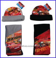 набор шапка и шарф CARS и Spiderman