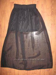 красивая юбка полупрозрачная с плотным чехлом