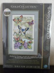 Набор для вышивания крестом Dimensions 35223 Butterfly Forest