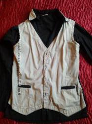 Стильная рубашка-обманка