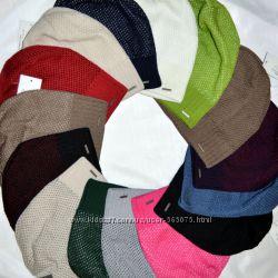 Вязаная удлиненная шапка NORD сетка большой выбор цветов