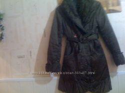 пальто зимнее коричневое
