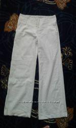 белые льняные штаны 44-46р. Nev look