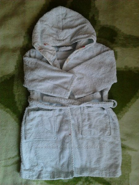 халат махровый 2-4 года