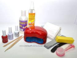 Набор для наращивания ногтей гель-лаком - готов к работе