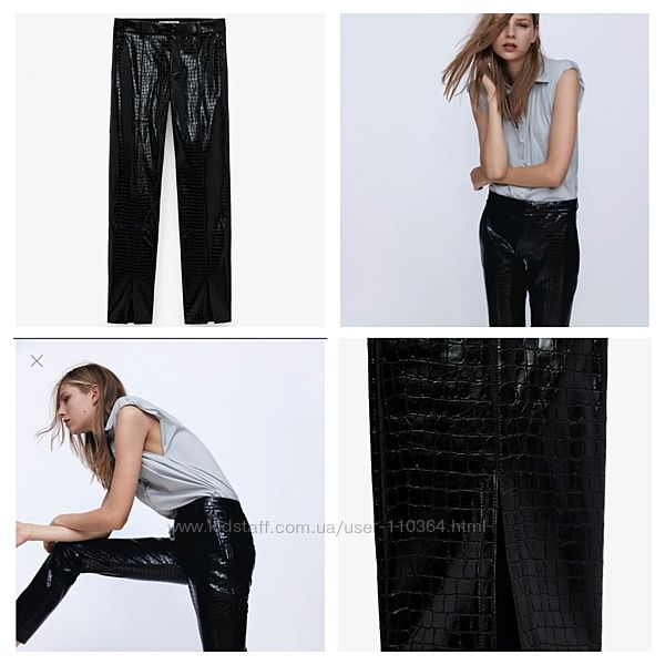 Кожаные брюки Zara размер Эль