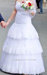 Красивое Свадебное Платье бу