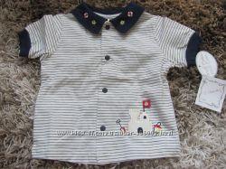 рубашка - морячка  и кепочка 0-6мес