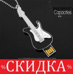 флешка Гитара. USB накопитель 8Гб, СЕРПАНТИН