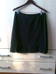 Юбка черная классическая до колен красивая польская скидка 85 процент