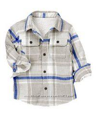 Цена снижена Крэйзи, Crazy8, для мальчика куртка-рубашка на меху, размер 2Т