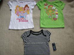 Футболки и кофточки на девочку 1-2 года