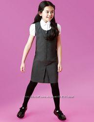 Универсальный школьный сарафан серый M&S Англия