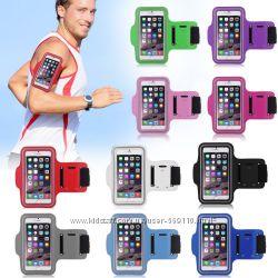Cпортивный чехол на руку iPhone 6, 7, 8 Plus, X, XR, XS чехол на руку для бега