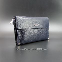 Клатч кожаный мужской на плечо Prada 3410-3