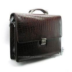 Портфель кожаный мужской классический каркасный Desisan 205-11