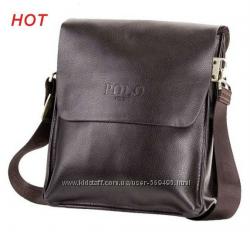 сумка мужская деловая Polo Videng, кожа