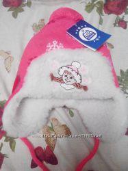 Зимняя шапочка на девочку 0-18 мес