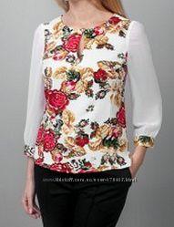 Блуза  от h e l e n a по типу вышиванки на 48-50 размер