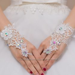 Свадебные перчатки огромный выбор по отличным ценам