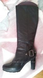 кожаные сапоги DEMARCHE в идеальном состоянии 41 -41, 5 размер