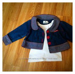 Джинсовый пиджак, 86-92 см