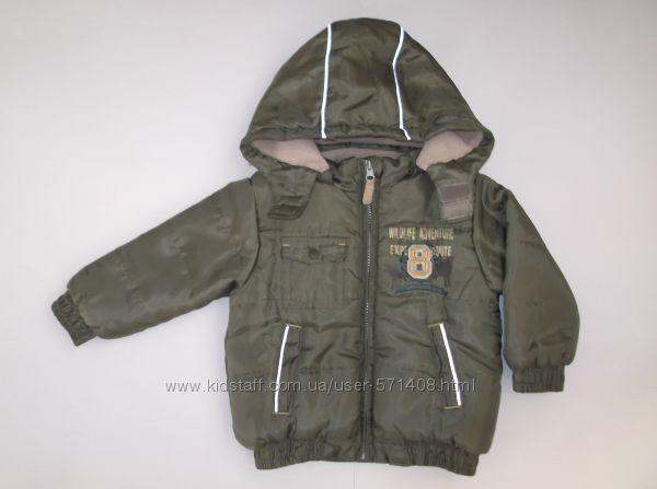 Курточка теплая для мальчика на рост 92 см Okay