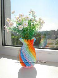 Продам вазочку модульное оригами из бумаги