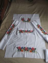 Платье вышитое бисером с поясом заготовки